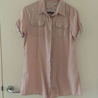 Beige Long shirt