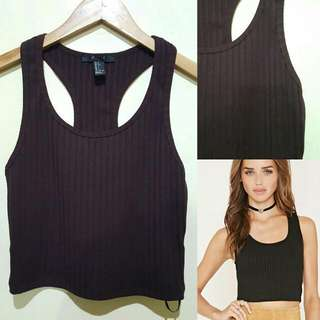 Forever21 Ribber Crop In Brown