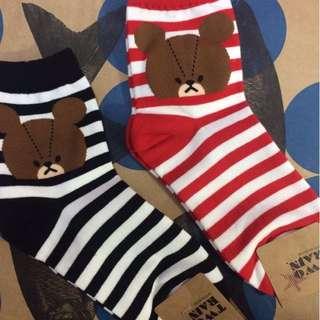 🇰🇷正韓🇰🇷 小熊學校 條紋長襪