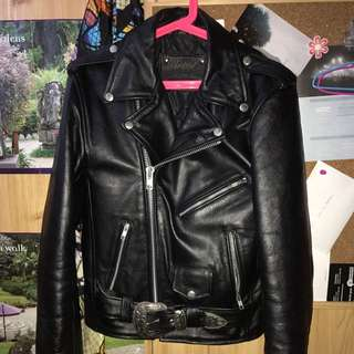 UNDERSTATED LEATHER The Staple Jacket With Western Buckle - Size XS