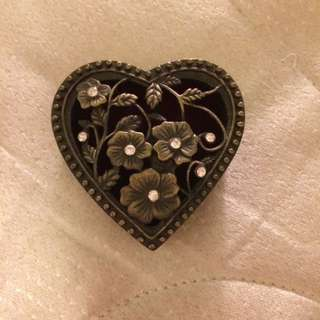 Love Heart Velvet Jewelry Box