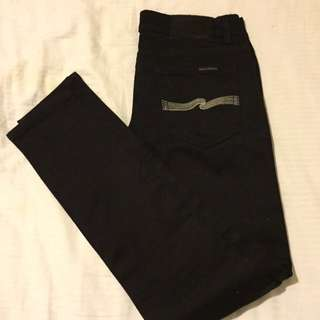 Black Nudie Jeans Size Small (8-10)