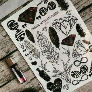 Hippy Temporary Tattoos 🔱