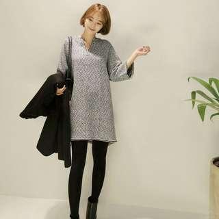 《特價》韓國直送 黑白格紋連身洋裝
