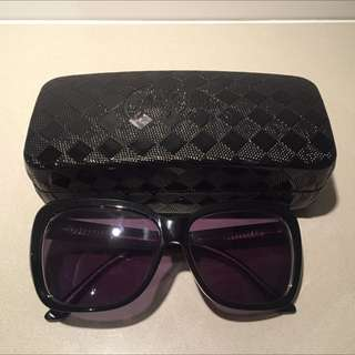 Collette Dinnigan Black Designer Oversized Sunglasses Like New
