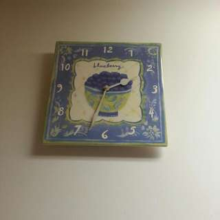"""Really sweet hand painted ceramic wall clock.  Runs on double AA batteries.  12""""H x 12""""W.  Pick up only.  Near Islington Ave. and Bloor St."""
