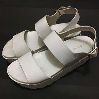 Windsor Smith Fend White Chunky Platform Sandals Size 7