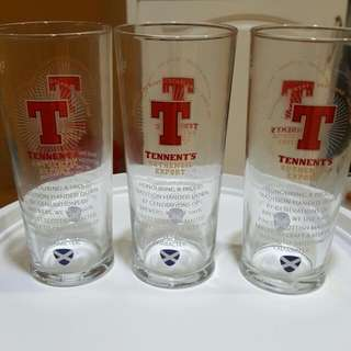 Tennant beer glass from Scotland RM15each
