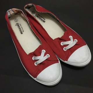 Red Sneaker Flats Size 37