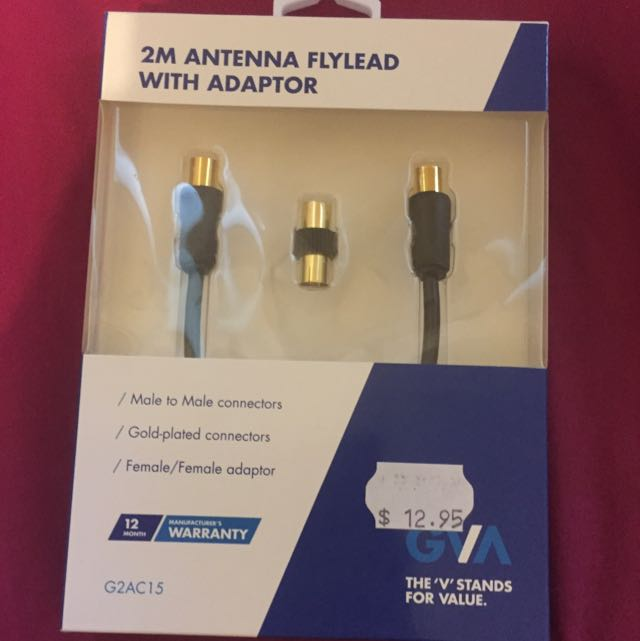 2m Antenna Fly lead With Adaptor