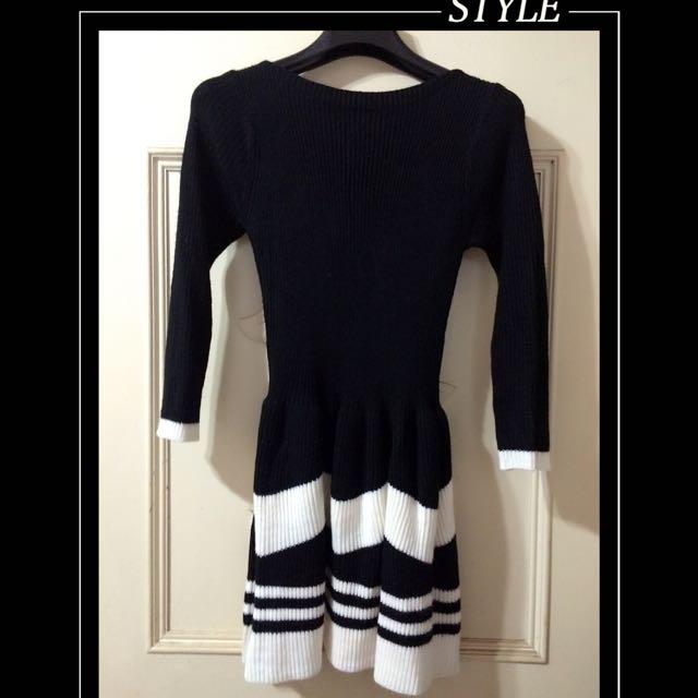 毛料連身裙(含運)