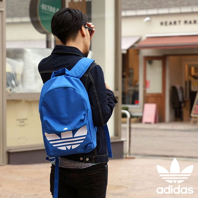 adidas 三葉草 後背包 三色 青藍色