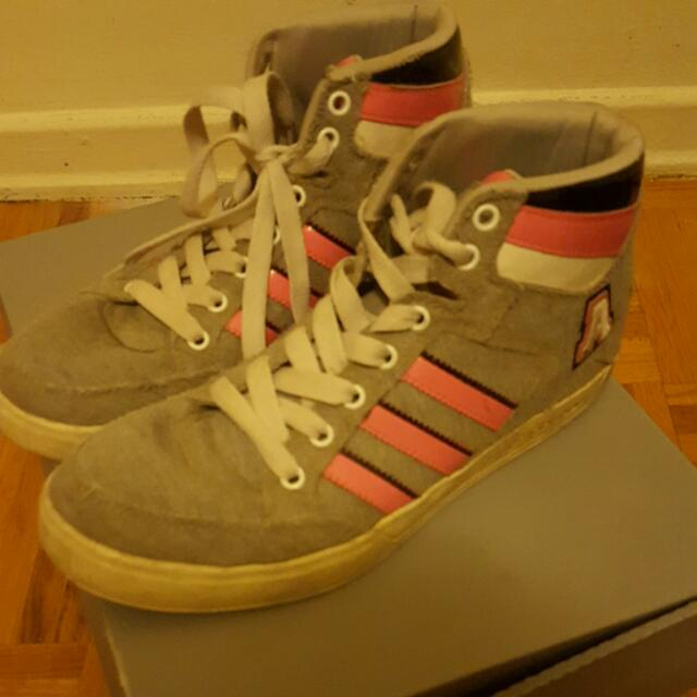 Adidas Pink And Grey Shoes ❤