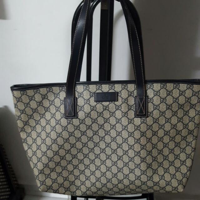 52bcb839cb Authentic Blue Gucci Monogram Tote Bag(Price Reduced!) $500, Women's ...
