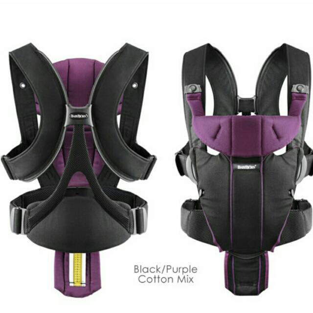 eae91027294 PL  Baby Bjorn Miracle Carrier In Black Purple
