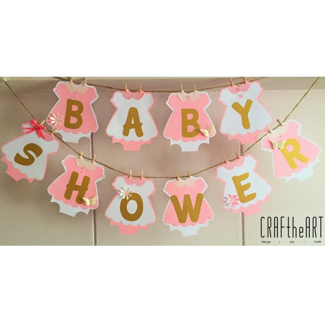 Baby Shower Banner Bunting Design Craft Handmade Craft On Carousell