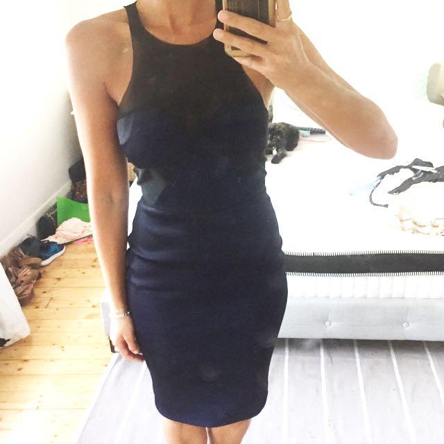 Bec & Bridge Navy And Black Dress