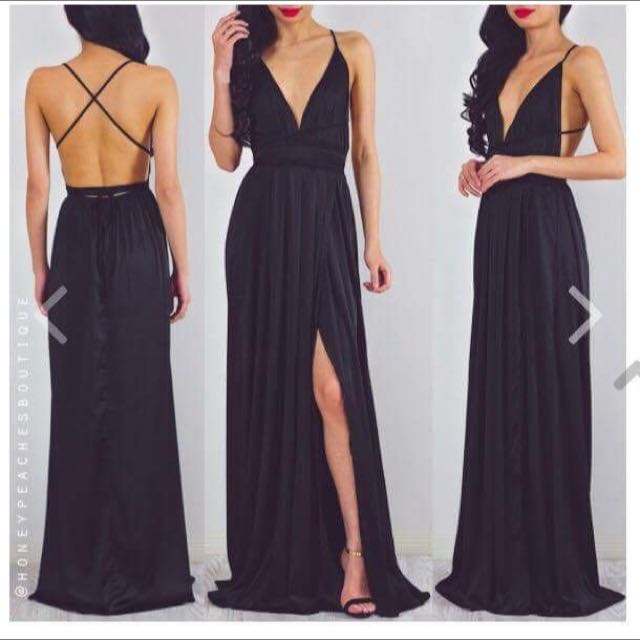 Black Maxi Formal Dress
