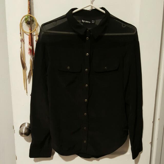 Black Longsleeve Blouse Medium