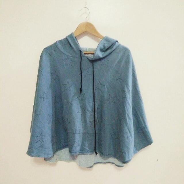 Korean style blue hoodie