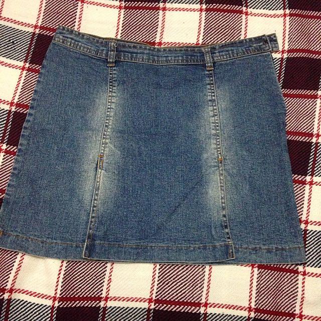 Blue Maong Skirt