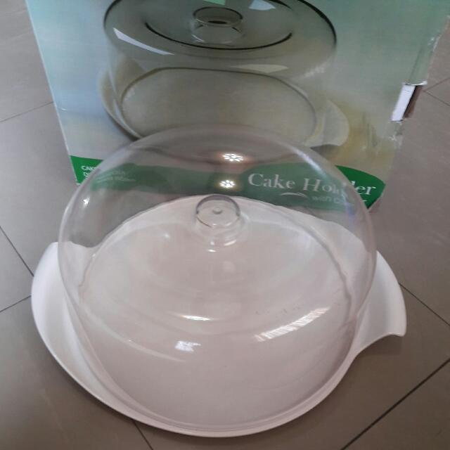 """Cake Holder with Cover 9.5"""""""