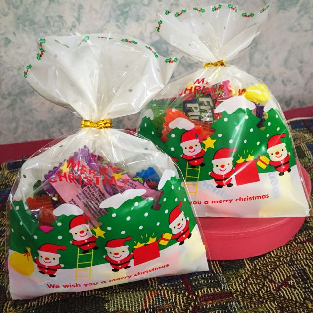 Christmas Goodie Xmas Bags Candy Sweets Packing