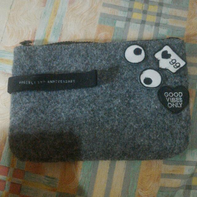 Clutch/pouch With Patch Gogirl Anniversary