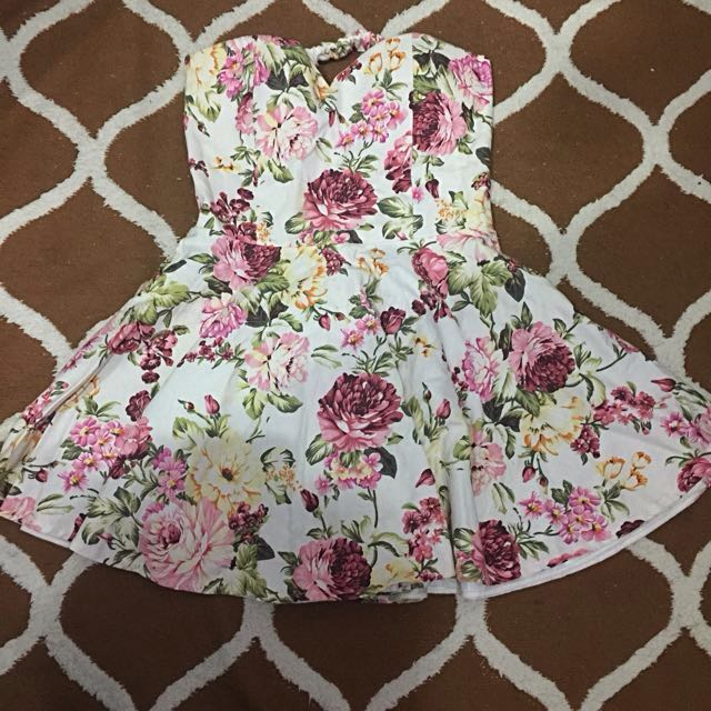 Flowery Tube Dress