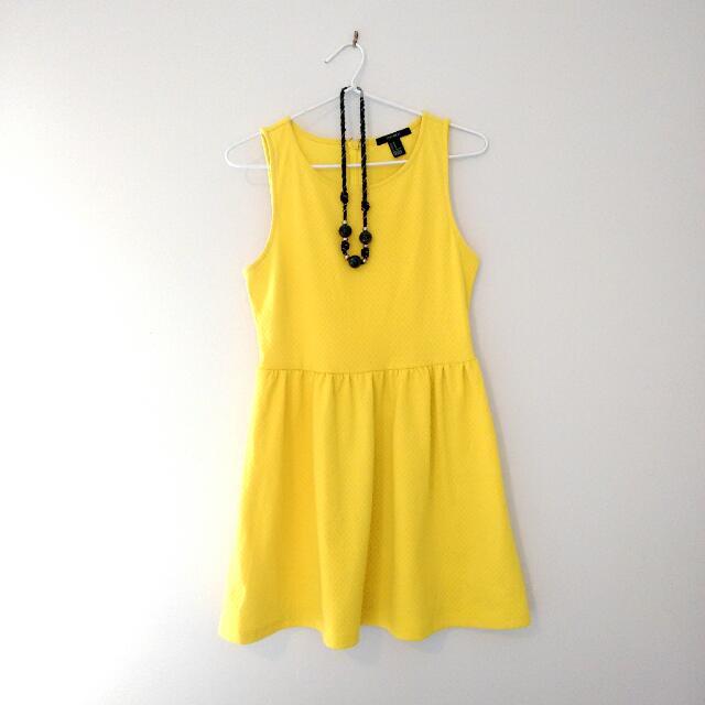Forever 21 Yellow Summer Dress