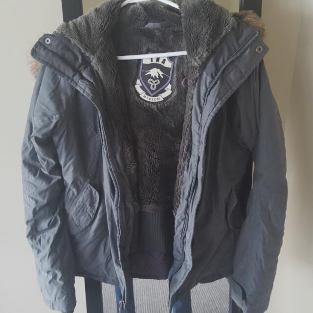 Grey TNA Winter Jacket