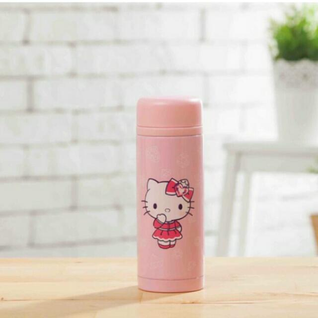 Hello Kitty 粉紅色保溫杯