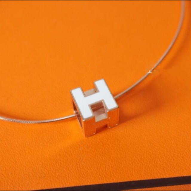 Hermes方型項鍊