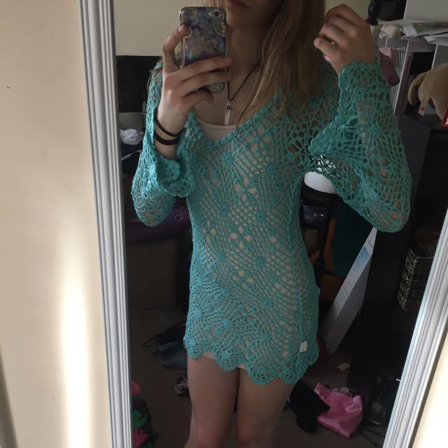 Indie Boho Crotchet Dress