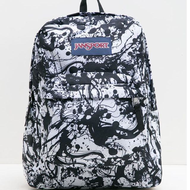 JanSport ORIGINAL !! WOMEN SUPERBREAK BLACK PAINTBALL