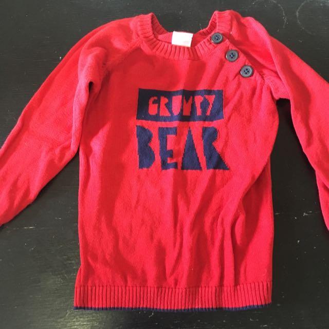 Knitted Sweater 'Grumpy Bear'