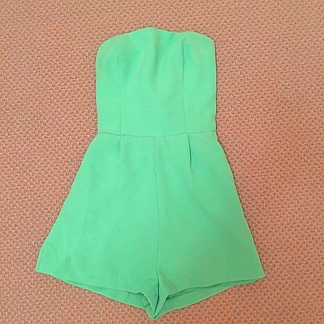 Kookai Mint Green Playsuit Size 36