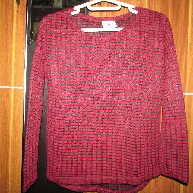 Korea Long Shirt Maroon