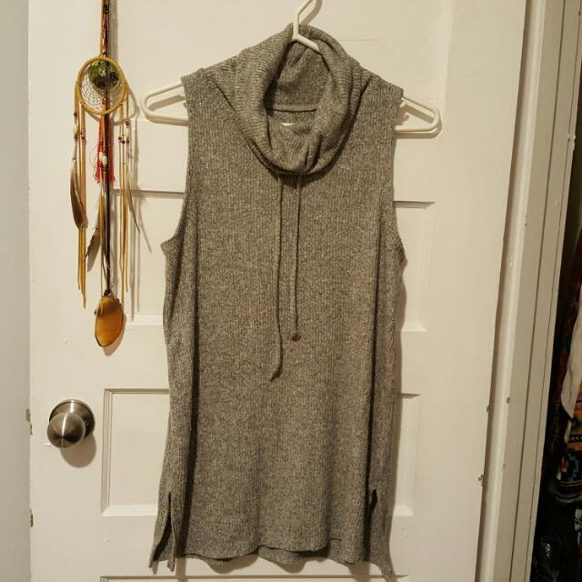 Long Grey Tanktop Small