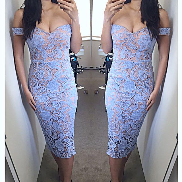 Lace Off Shoulder Dress 8 10 12 ❤️