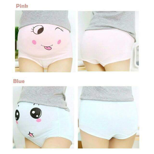 MATERNITY PANTIES with cute faces