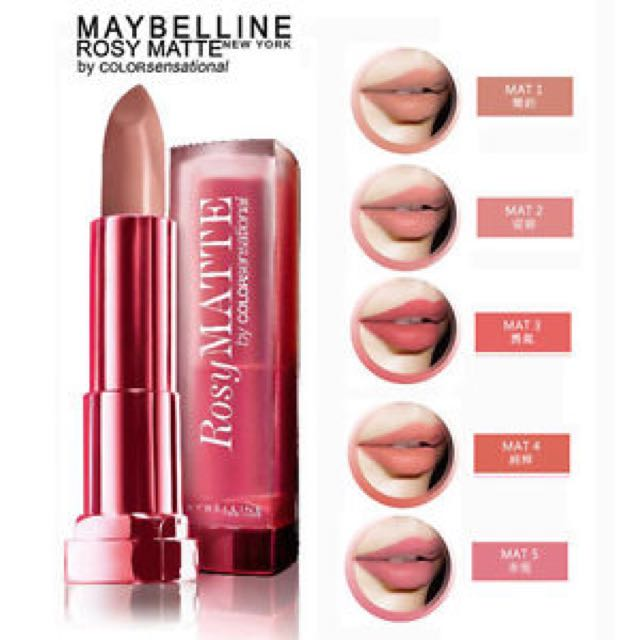 Maybelline Rosy Matte Lipstick - Natural Beige, Health & Beauty, Makeup on Carousell