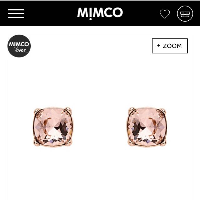 Mimco Large Rose Gold Jewel Stud Earrings