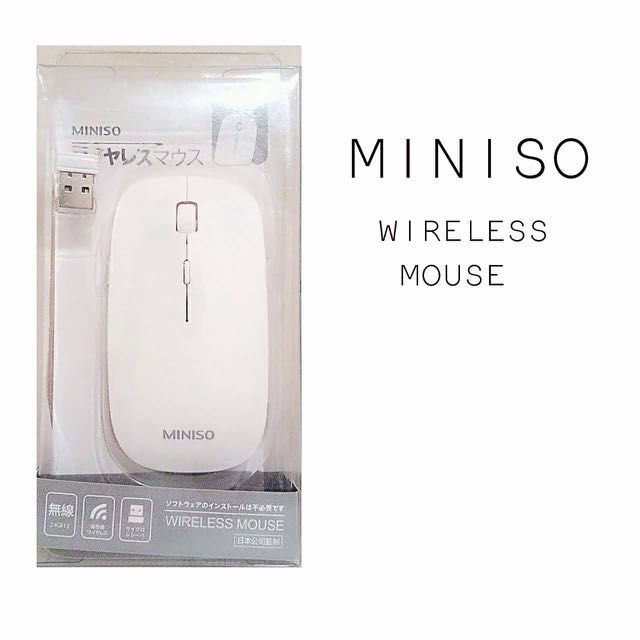 Miniso Wireless Mouse Electronics Computer Parts