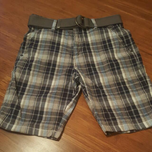 New Boys Size 12 Shorts And Belt.
