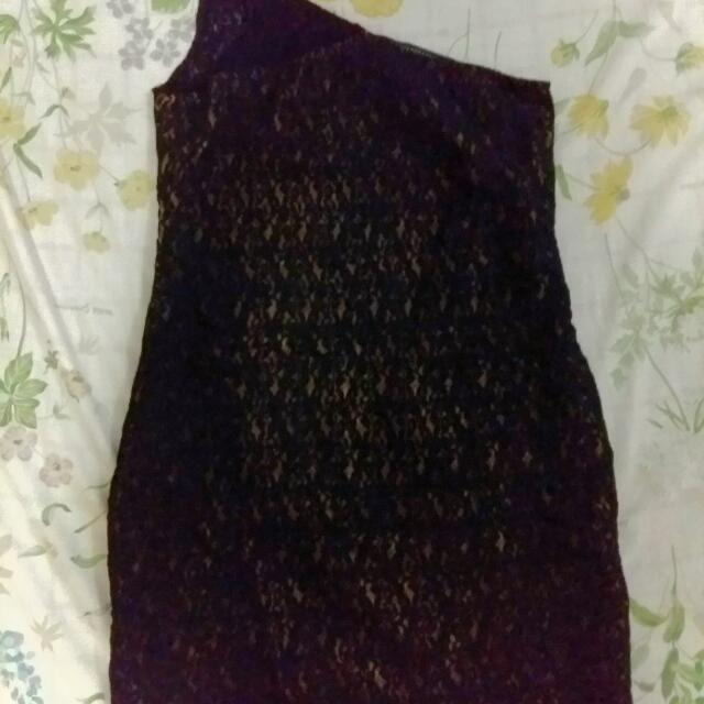Pre-loved F&H Black and Gold Dress