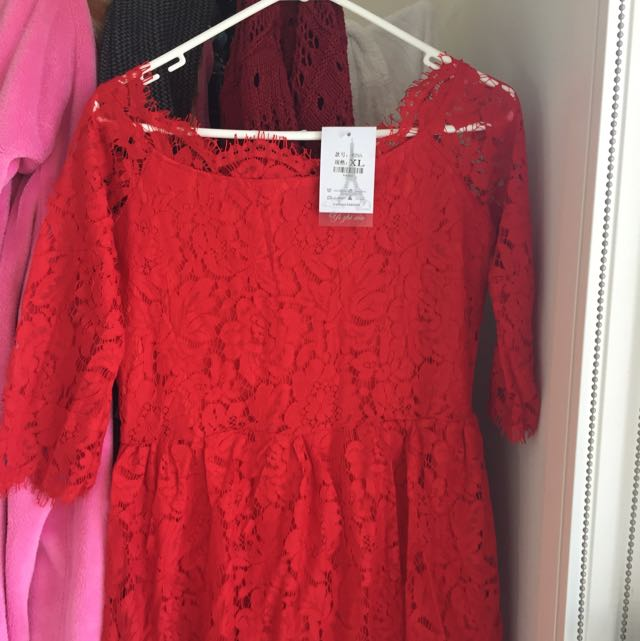 Red Laces Dress For wedding!