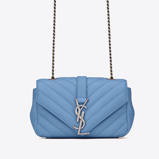 Saint Laurent Baby Chain Bag Blue