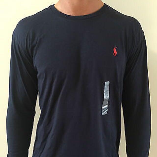 SALE - Ralph Lauren Navy Long Sleeve T Shirt