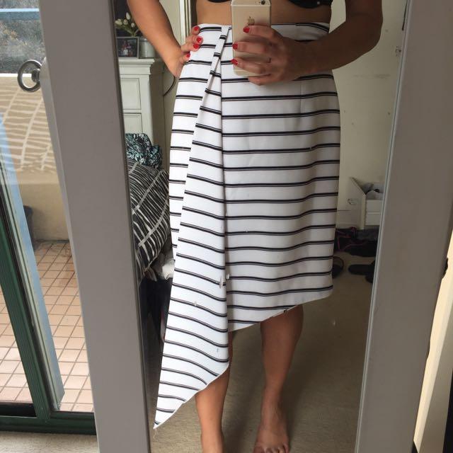 Shieke B&W Pencil Skirt